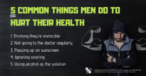 5 common things mend do to hurt their health
